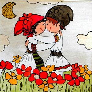 pictură cu motive tradiţionale